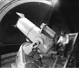 Zwicky at the 18-inch Schmidt: Thanks to the Jet Propulsion Laboratory Archives.