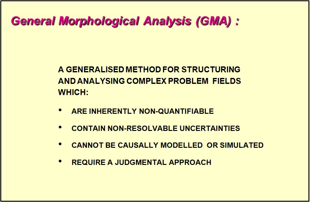 General morphological analysis